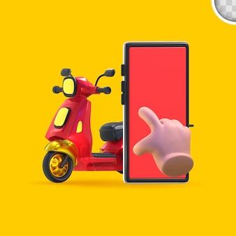 Zakupy online na smartphone minimalne pojęcie.