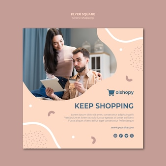 Zakupy online w stylu ulotki
