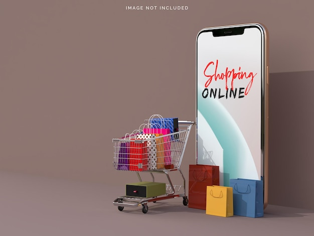 Zakupy online z makietami smartfonów
