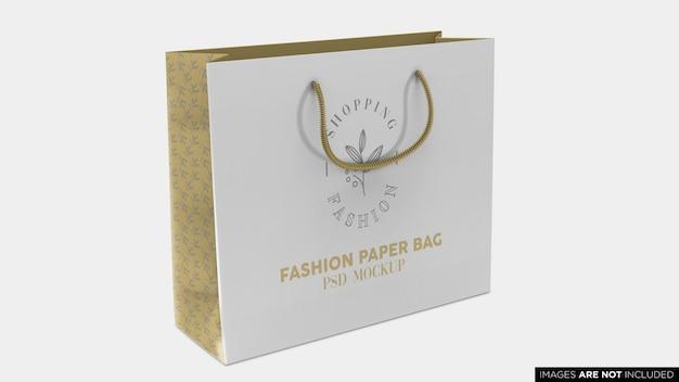 Zakupy torba papierowa makieta psd