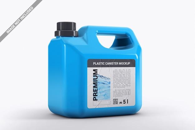 Zamknij plastikowy galon z makietą naklejek