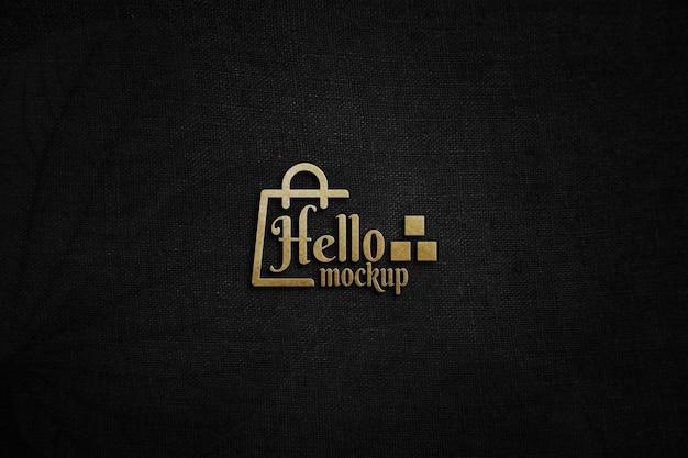 Zamknij się elegancki projekt makiety logo