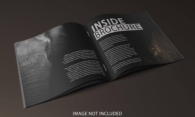 Zamknij się na broszurze projekt makiety strony wewnętrznej