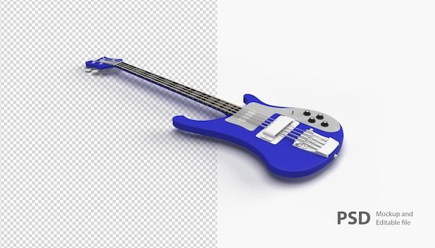 Zamknij się na gitarze na białym tle