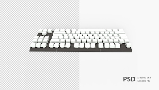 Zamknij się na klawiaturze na białym tle