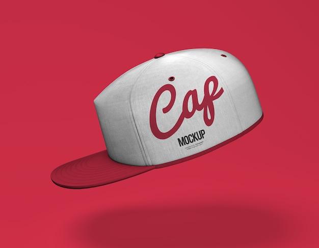 Zamknij się na makiecie czapki sportowej