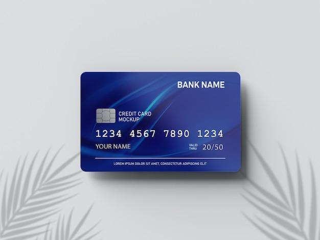 Zamknij się na makiecie karty kredytowej