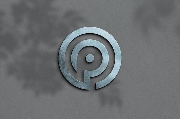 Zamknij się na makiecie logo 3d
