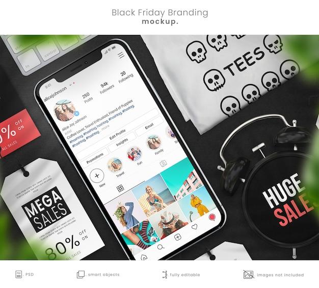 Zamknij się na makiecie marki sklepu e-commerce