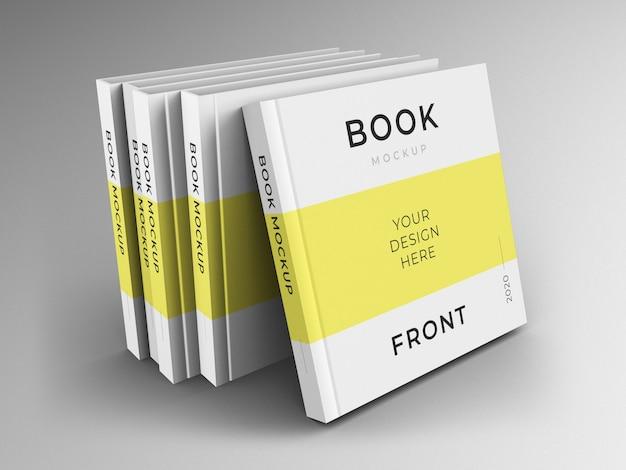 Zamknij się na makiecie okładki kwadratowych książek