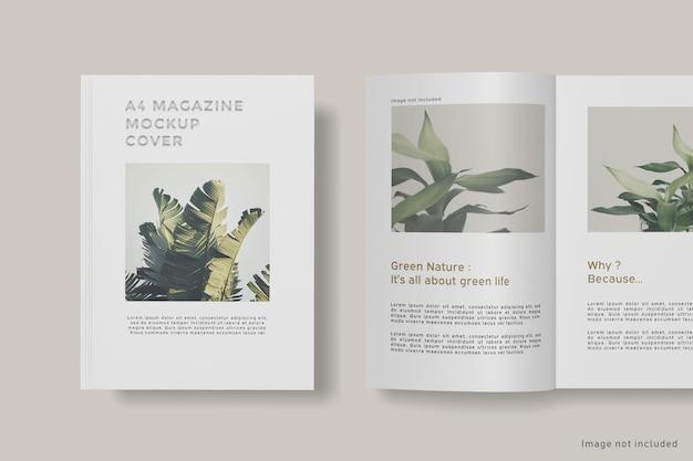 Zamknij się na makiecie okładki magazynu na białym tle