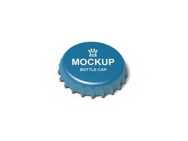 Zamknij Się Na Makieta Zakrętki Butelki Na Białym Tle Premium Psd