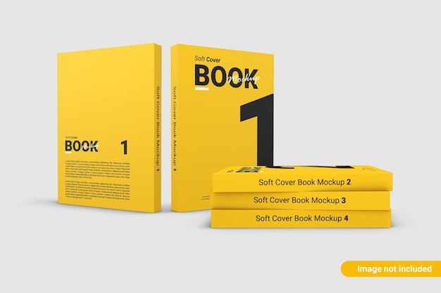 Zamknij się na okładce książki mockup design