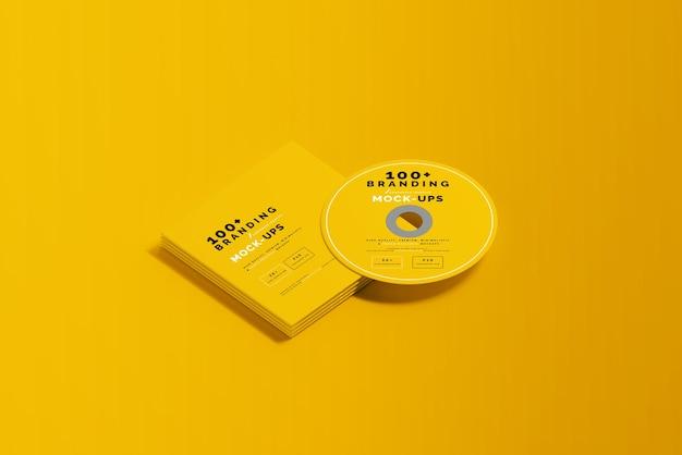 Zamknij się na opakowaniu dysku cd i makiety rękawa