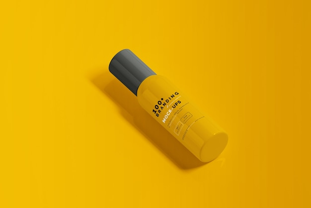 Zamknij się na opakowaniu makiety butelki kosmetycznej