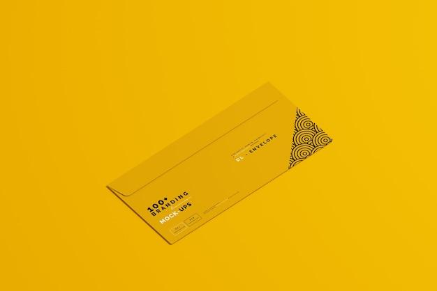 Zamknij się na opakowaniu makiety koperty