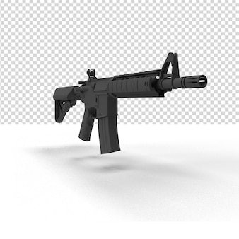 Zamknij się na pistolet w renderowaniu 3d na białym tle