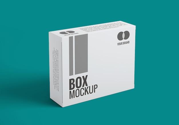 Zamknij się na projekcie makiety pudełka
