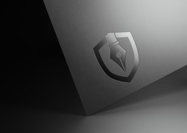 Zamknij się na projekt makiety logo firmy