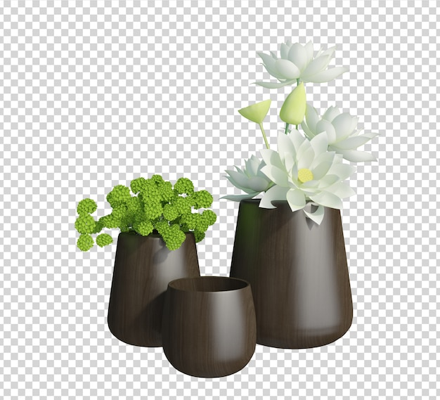 Zamknij się na renderowaniu 3d roślin