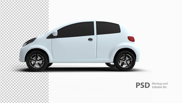 Zamknij się na samochodzie w renderowaniu 3d na białym tle