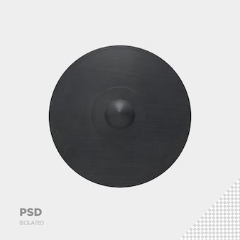 Zamknij się na tarczy wojownika 3d izolowane premium psd