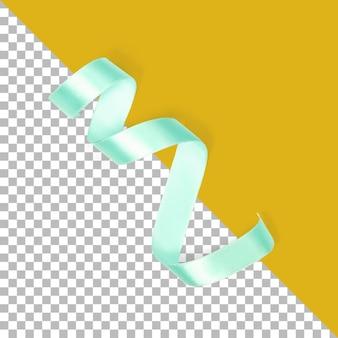 Zamknij widok niebieskiej wstążki izolowanej z przezroczystością