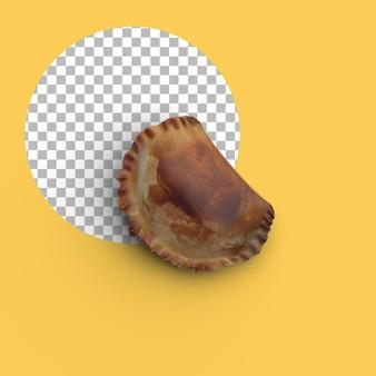Zamknij widok patty shell na białym tle