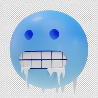 Zamrozić emotikon 3d ilustracja