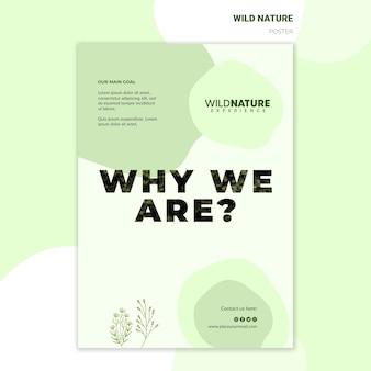 Zapisz szablon plakat dzikiej przyrody lasów