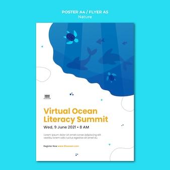 Zapisz szablon wydruku dla oceanów