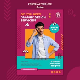 Zaprojektuj Szablon Plakatu Studio Darmowe Psd