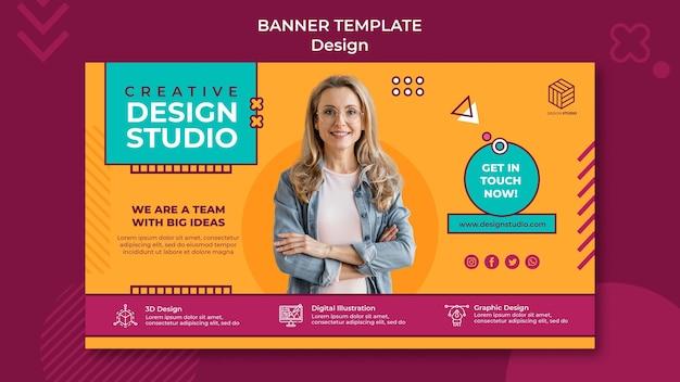 Zaprojektuj szablon transparent studio