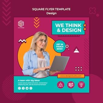 Zaprojektuj szablon ulotki kwadratowej