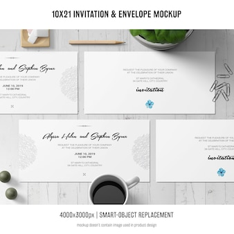 Zaproszenie i makieta koperty