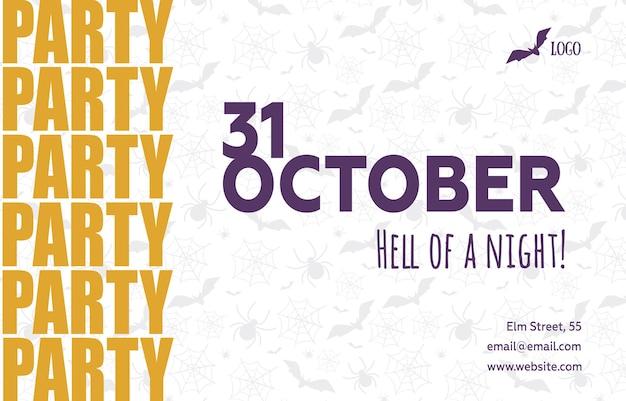 Zaproszenie na przyjęcie na halloween 31 października, miejsce kopiowania