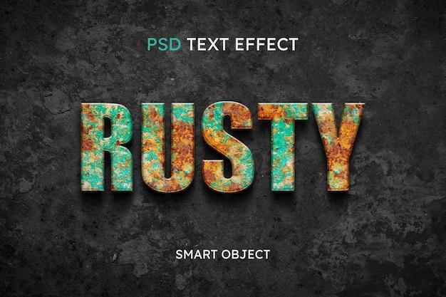 Zardzewiały efekt stylu tekstu