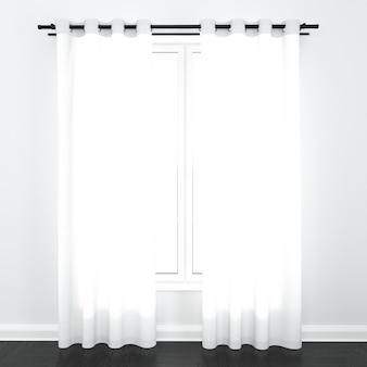 Zasłony na białym oknie