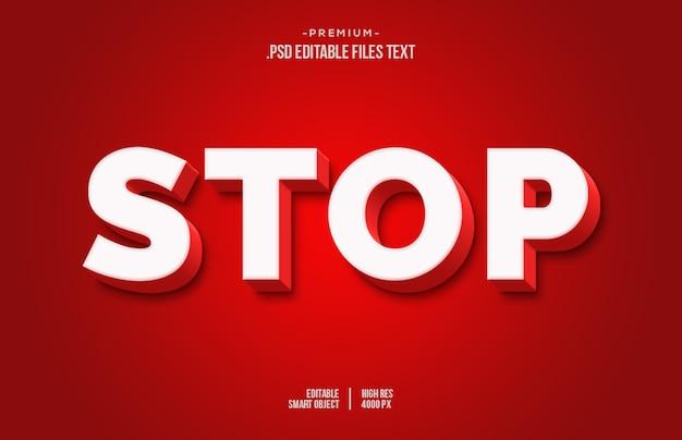 Zatrzymaj efekt tekstowy