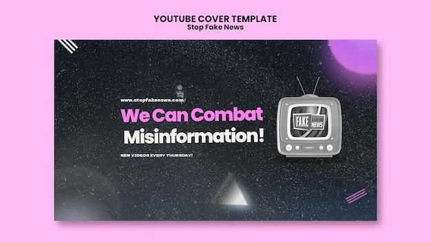 Zatrzymaj okładkę youtube z fałszywymi wiadomościami
