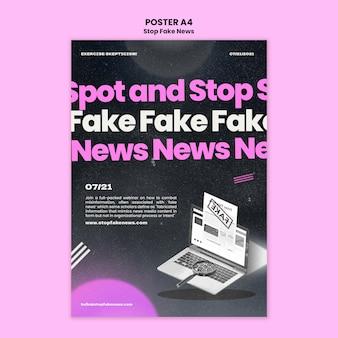 Zatrzymaj szablon wydruku fałszywych wiadomości