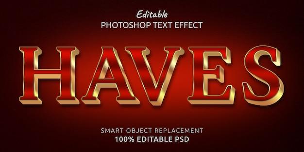 Zawiera szablon efektu tekstowego
