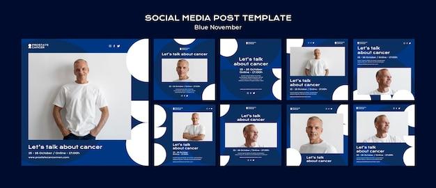 Zbieranie postów w mediach społecznościowych dotyczących świadomości raka prostaty