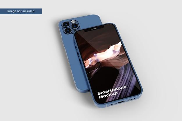 Zbliżenie makieta smartfona