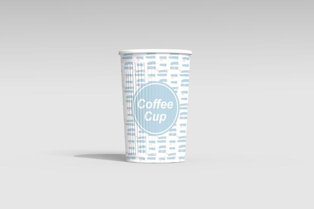 Zbliżenie na filiżankę kawy makieta na białym tle
