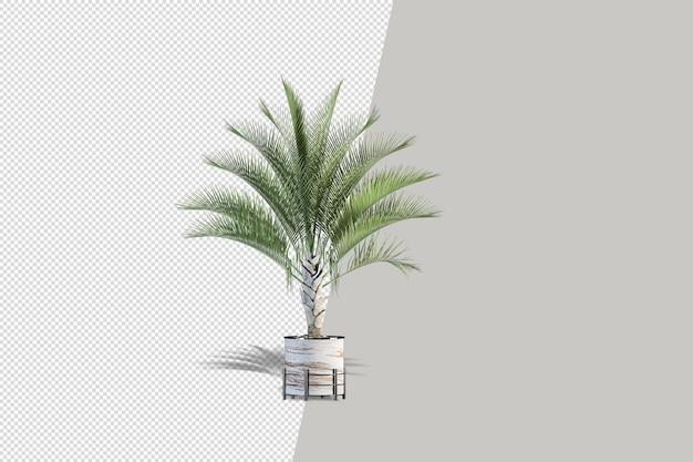 Zbliżenie na kwiat w renderowaniu 3d wnętrza doniczki