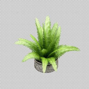 Zbliżenie na kwiat w wazonie w renderowaniu 3d