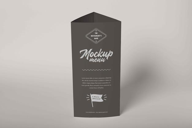 Zbliżenie na makieta menu