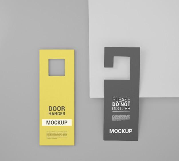 Zbliżenie na makieta wieszaka na drzwi