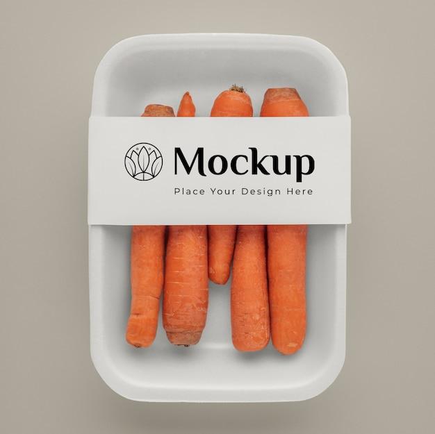 Zbliżenie na makietę opakowania wegańskiego